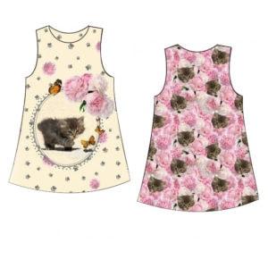 Cicás kislány ruha készítő szett