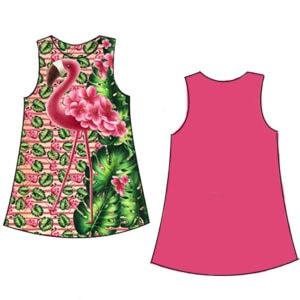 Flamingós lányka ruha készítő szett